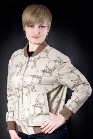 Куртка из перфорированной узорчатой кожи