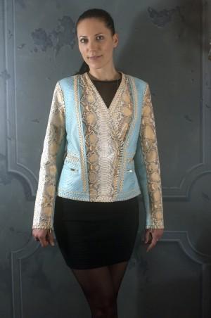 Комбинированая куртка из питона