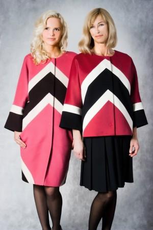 Комбинированное кашемировое пальто