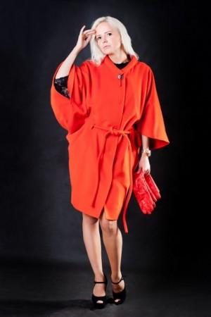 Кашемировое пальто-кимоно