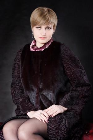 Комбинированное меховое пальто №4